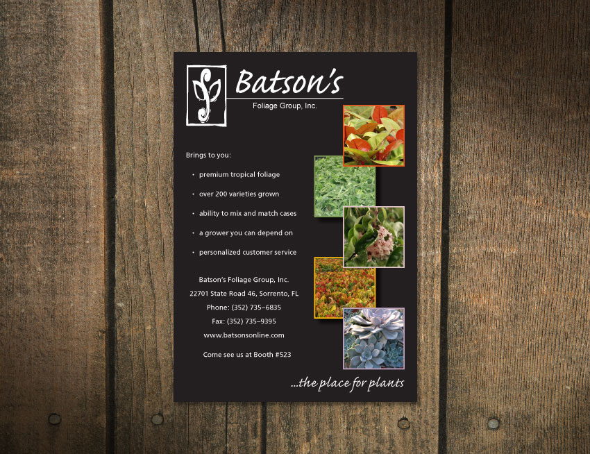Batson's Foliage Group Magazine Ad