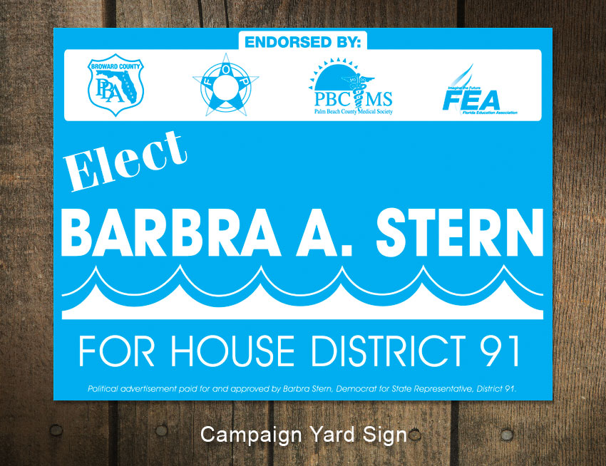 Barbar A. Stern Campaign Sign