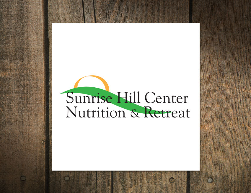 Logo Design Sunrise Hill Center Nutrition and Retreat