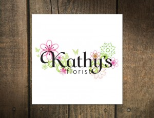 Logo Design for Kathy's Florist