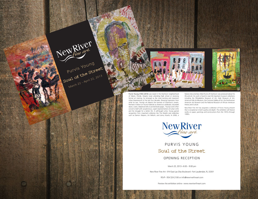 New River Fine Art Invitation