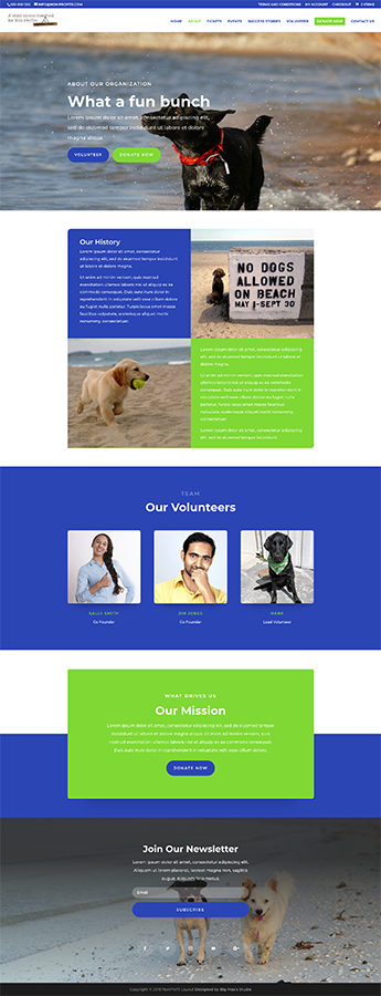 Sample About page - nonProfit Divi Child Theme