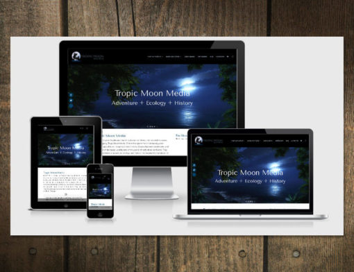 Website Design for Tropic Moon Media