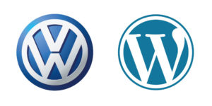 VW vs. WordPress Logos - Big Max's Studio Logo Design