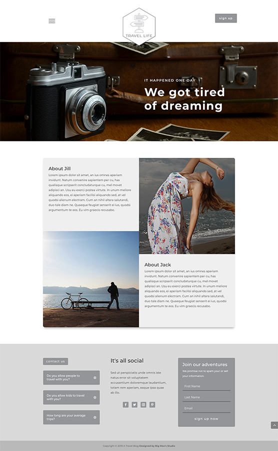 Sample About page - Travel Divi Child Theme