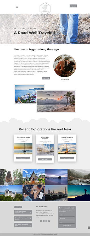 Sample Homepage - Travel Divi Child Theme