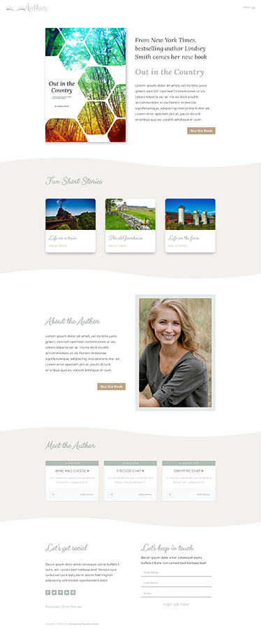 Sample Homepage - Author Divi Child Theme