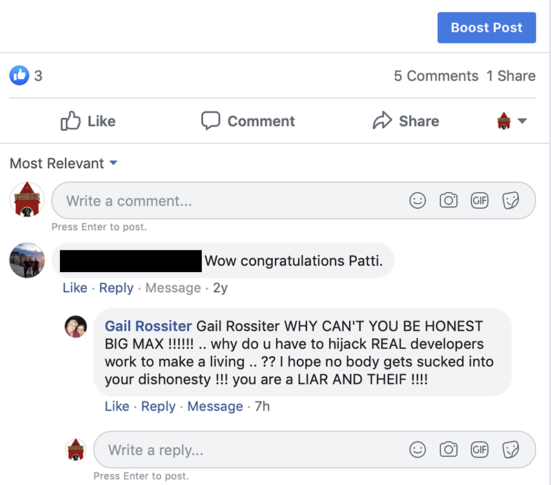 Image of a post from Gail Rossiter